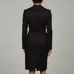 Tahari ASL Women's Black Jacquard Skirt Suit - Thumbnail 1