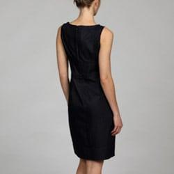 London Times Women's Zipper Waist Sheath Dress - Thumbnail 1