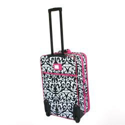 World Traveler 3-piece Damask Expandable Luggage Set - Thumbnail 1