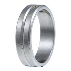 Kabella Men's Stainless Steel 18k goldplated Band Ring
