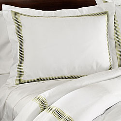 Hotel Embroidered Green 3-piece Full/ Queen-size Duvet Cover Set - Thumbnail 1