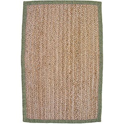 nuLOOM Eco Natural Fiber Chenille Border Jute Rug (5' x 8')