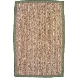 nuLOOM Eco Natural Fiber Chenille Border Jute Rug (8' x 10') - Thumbnail 1
