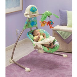Fisher-Price Rainforest Open Top Cradle Swing - Thumbnail 1