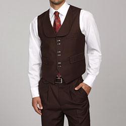 Ferrecci Men's Brown 6-button Suit