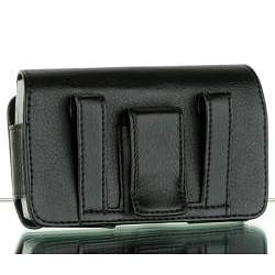 BlackBerry Torch 9800 Premium Leather Horizontal Belt Clip Case - Thumbnail 1