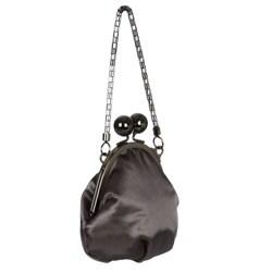 Jessica McClintock Large Kiss Lock Oval Frame Evening Bag - Thumbnail 1