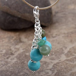 Fashion Forward Turquoise-color Gemstone Charms (Set of 3) - Thumbnail 1