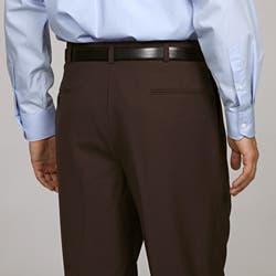 Austin Reed Men S Brown Pleated Brown Dress Pants Overstock 5281358