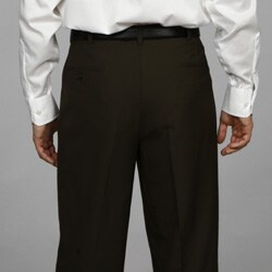 Austin Reed Men's Pleated Olive Washable Reflex Dress Pants