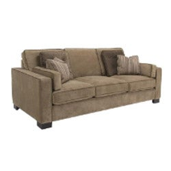 Tuscany Camel Fabric Velvet Sofa and Loveseat - Thumbnail 1