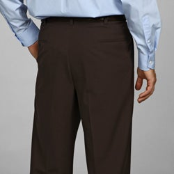 Austin Reed Men's Brown Flat Front Dress Pants - Thumbnail 1