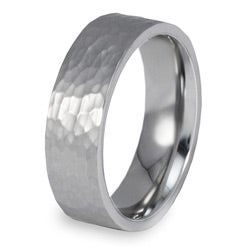 West Coast Jewelry Stainless Steel Men's Hammered Finish Ring