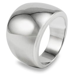 West Coast Jewelry Stainless Steel Wide Band Ring - Thumbnail 1