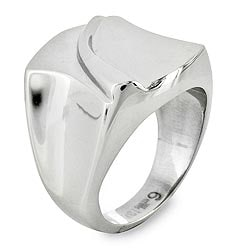 West Coast Jewelry Stainless Steel Groove Ring - Thumbnail 1