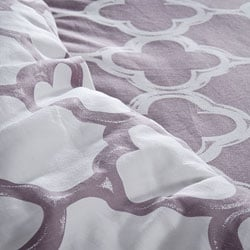 Lyon Reversible Cotton Full/ Queen-size Duvet Cover Set - Thumbnail 1