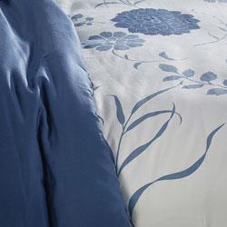 Flower Burst Reversible Cotton Full/ Queen-size Duvet Cover Set - Thumbnail 1