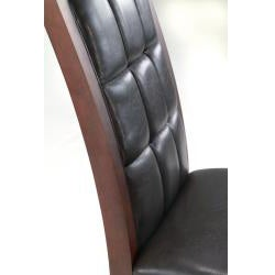 Leather Biscuit-back Dining Chairs (Set of 2) - Thumbnail 1
