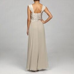 Jessica Howard Women's Tucked Bodice Dress with Bolero Jacket - Thumbnail 1
