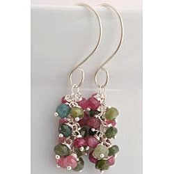 Sterling Silver Tourmaline Cascade Earrings - Thumbnail 1