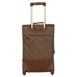 London Fog Tan Oxford Spinner 2 Piece Luggage Set Free