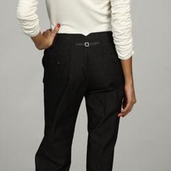 Larry Levine Women's Black Stretch Pants - Thumbnail 1
