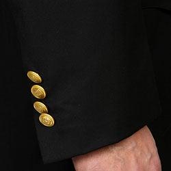 Ferrecci Men's 'Cadet-Uniform' Black Suit