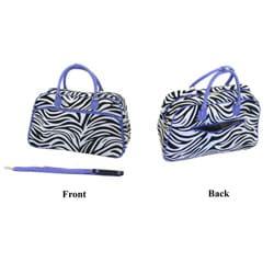 World Traveler Women's Zebra Print Shoulder Tote Bag