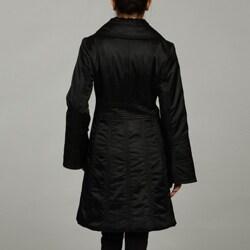 Jessica Simpson Belted Napkin Collar Puffer Jacket - Thumbnail 1