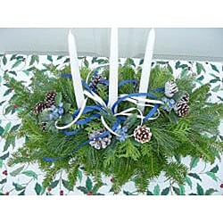 Fresh Balsam 3-candle Holiday Centerpiece - Thumbnail 1