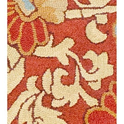 Thumbnail 2, Hand-tufted Indo Rust/ Beige Wool Rug (5' x 7'). Changes active main hero.
