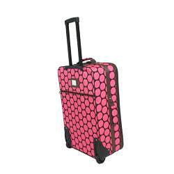 Thumbnail 2, World Traveler 3- Piece Pink Dot Expandable Luggage Set. Changes active main hero.