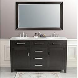 Sapphire 60-inch Double Sink Bathroom Vanity - Thumbnail 1