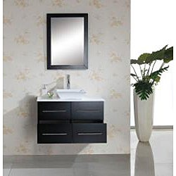 Virtu USA Helen 36-inch Espresso Single-sink Bathroom Vanity with Mirror - Thumbnail 1