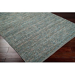 Hand-woven Cottage Grey Natural Fiber Jute Rug (8' x 11') - Thumbnail 1