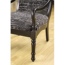 Turned Leg Font Noir Arm Chair