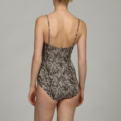 Kenneth Cole Women's 1-piece Python Print Swimsuit - Thumbnail 1
