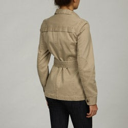 Buffalo Women's Military Belted Patchwork Jacket - Thumbnail 1