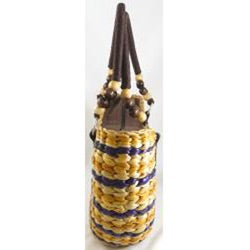 Water Hyacinth Patterned Shoulder Bag (Thailand) - Thumbnail 1