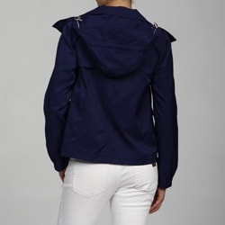 Nine West Women's Button Front Hooded Jacket - Thumbnail 1