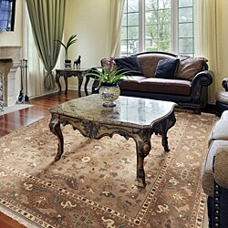 Hand-knotted Epoch Dusty Rose Wool Rug (9' x 12') - Thumbnail 1