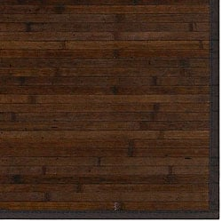 Hand-woven Veneer Light Brown Natural Fiber Rayon from Bamboo Rug (8' x 10')