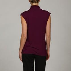 Adrienne Vittadini Women's Sleeveless Turtleneck Top - Thumbnail 1