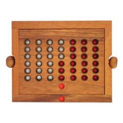 Wood Travel-size Connect Four Game (Thailand) - Thumbnail 1