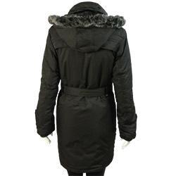 E-Niqi Women's Classic Faux Fur Hooded Coat - Thumbnail 1