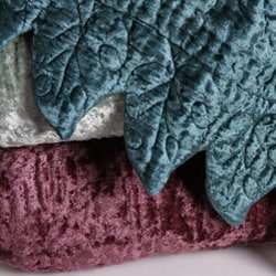 Rayon Velvet French Quilted Throw - Thumbnail 1