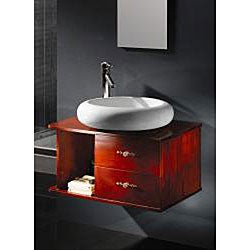 Taichi Vitreous China Oval Bathroom Vessel Sink - Thumbnail 1