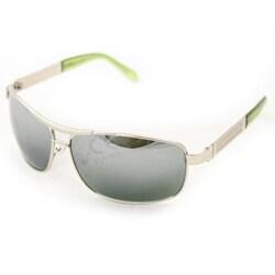 Men's D0392 Silvertone Aviator Sunglasses