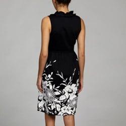 Spense Women's Ruffle Neck Dress - Thumbnail 1
