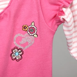 Ecko Newborn Girl's Rainbow and Flower Bodysuit